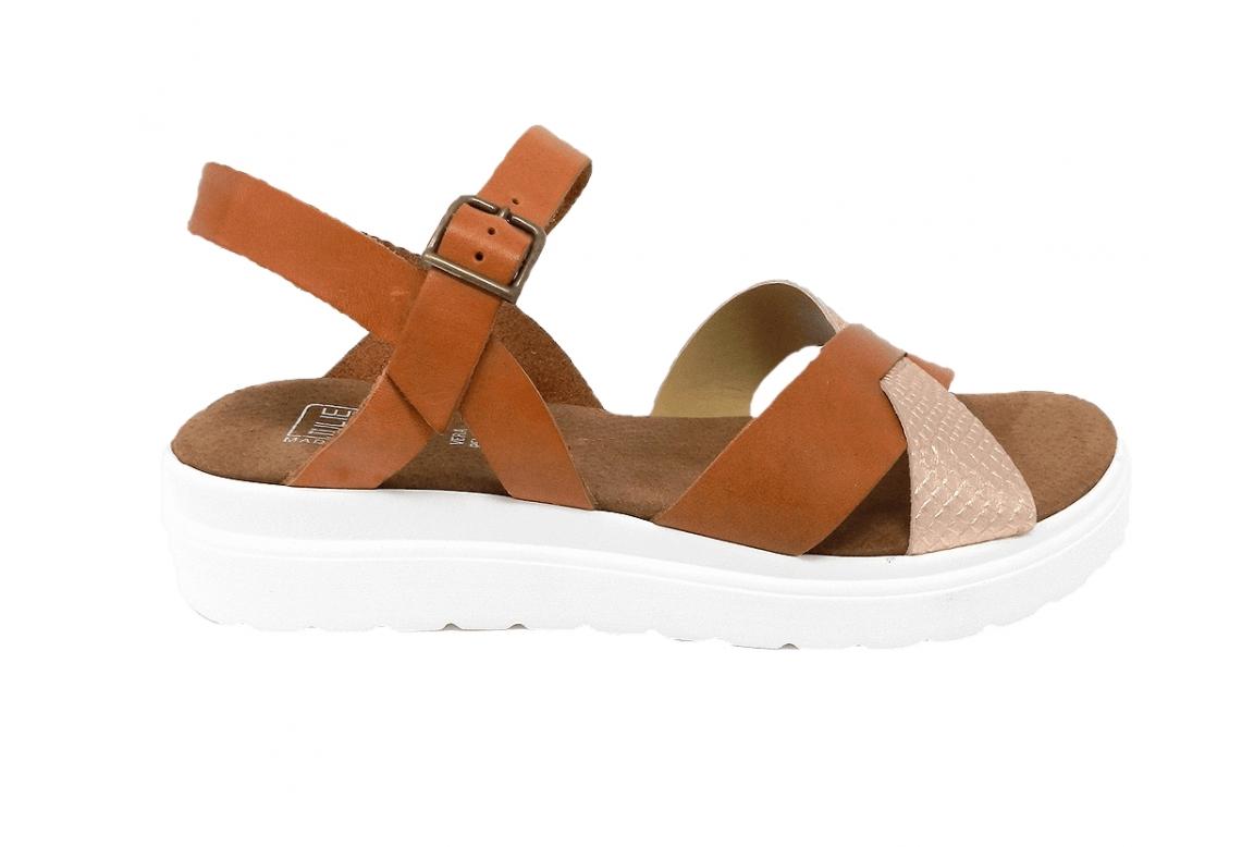 Sandale femme en cuir véritable sport line - cuir - 1